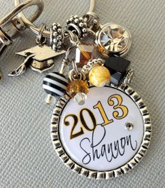 Graduationgift, Class of 2013 PERSONALIZED, Senior gift, School Colors - High School Graduate, Dance, Softball, School Spirit, Music. $19.50, via Etsy. buttonit