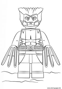 print lego wolverine coloring pages