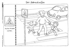 Download als PDF: Verkehr – Zebrastreifen – Broska Class Activities, Color Activities, Art Education Lessons, Preschool Christmas, Learning Arabic, Primary School, Classroom Management, Worksheets, Teaching