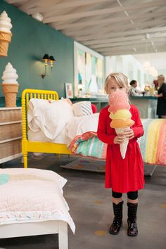 Every kid loves an ice cream cone pillow!