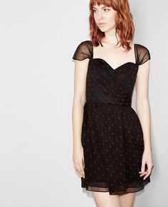Robe bustier manches tombantes à pois - Robes - Femme - The Kooples