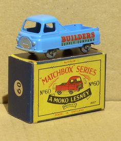 60-A 	Morris J2 Pickup Matchbox Cars, My Youth, Train Set, Diecast