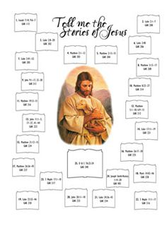 Primary Advent Calendar:  Tell me the stories of Jesus. Wonderful for December. Perfect to get them focused on Jesus, more than Santa! Free printable.