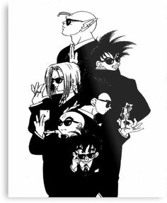 Men in black! Scan from Dragon Ball doujinshi , published by Taku Fusamichi… Dragon Ball Gt, Fanart, Anime Tatoo, Manga Anime, Anime Art, Girls Anime, Anime Merchandise, Anime Comics, Dc Comics