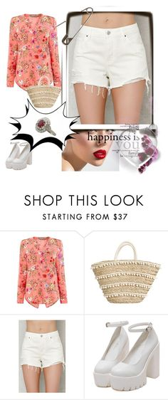 """""""Spring Botanical Wrap Shirt"""" by izetazejnilovic ❤ liked on Polyvore featuring Oasis and PacSun"""
