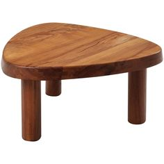 Pierre Chapo Coffee Table in Solid Elm | From a unique collection of antique and modern coffee and cocktail tables at https://www.1stdibs.com/furniture/tables/coffee-tables-cocktail-tables/