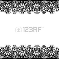 encaje: De encaje antiguo, fondo de la vendimia, ilustración vectorial. Vectores