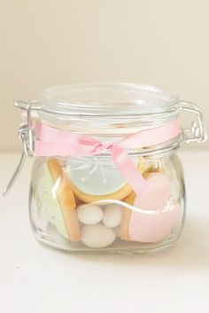 hello naomi: pretty jar of goodies. Merry Christmas, Pink Christmas, Christmas Baking, Christmas Cookies, Christmas Gifts, Xmas, Christmas Ideas, Christmas Hamper, Christmas Sweets
