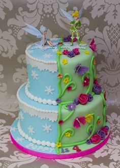 Tinkerbell and Periwinkle cake :-)