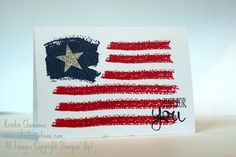 Patriotic Flag Card using the Work of Art stamp set from Stampin' Up!
