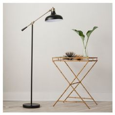 Crosby Schoolhouse Floor Lamp Black Includes Energy Efficient Light Bulb - Threshold , Size: Lamp with Energy Efficient Light Bulb Black Floor Lamp, Black Lamps, Black Lights, Desk Lamp, Table Lamp, Room Lamp, Light Bulb Wattage, Traditional Lighting, Industrial Style