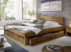 Balkenbett Bett Doppelbett 180x200cm Wildeiche Eiche Holz massiv geölt NEU OVP!! in Möbel & Wohnen, Möbel, Betten & Wasserbetten | eBay!