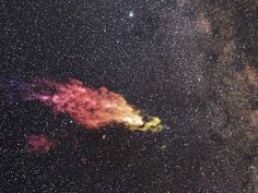 A composite image shows the Smith Cloud on the edges of the galaxy. This huge gas cloud is coming towards us and could trigger the creation of 200 million new stars.