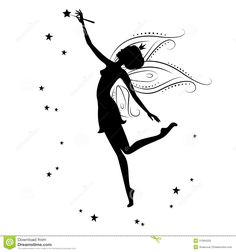 Beautiful Fairy Silhouette   She Dancing  Holding In Hand The Magic