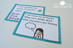 Revising and Editing I can posters - great visuals for getting students to revise and edit their writing!