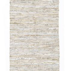 Classic Small Beige Leather Rug
