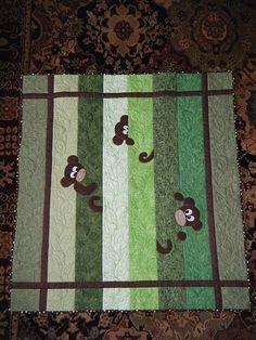 Peek a boo - adorable #monkey #quilt !!!