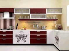 Colorful #kitchen #cabinets with a beautiful simplicity.