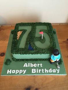 Golf cake. 75th birthday cake. Mans cake