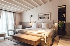 New hotel: Sant Francesc, Mallorca  Set in Palma's old town this hotel is grand, luxurious and opulent and perfect for a decadent minimoon. It's barely a year old and has already had awards aplenty - Travel + Leisure described it as one of the best new hotels on the planet and it's consistently a top scorer on TripAdvisor. If you love stylish interiors, gourmet food and being steps away from the best shops, this is the hotel for you. hotelsantfrancesc.com