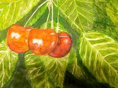 GALERIA PALOMO MARIA: CEREZAS Stuffed Peppers, Vegetables, Cherries, Paintings, Stuffed Pepper, Vegetable Recipes, Stuffed Sweet Peppers