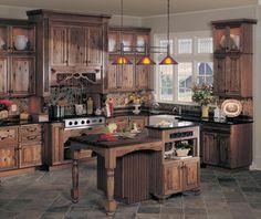 Elegant Country Kitchen Design Interior Decorating Ideas - Luxury Kitchen Design Ideas