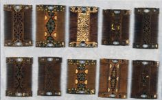 Set of 10 Qajar combs, Iran, second half of the 19th Century.