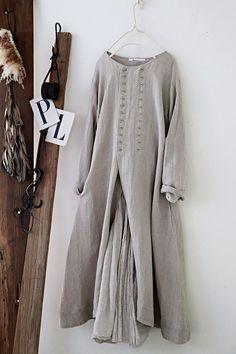 라르니에 정원 LARNIE Vintage&Zakka Gauze Clothing, Womens Linen Clothing, Linen Dresses, Casual Dresses, Linen Dress Pattern, Hijab Fashion, Fashion Dresses, Simple Pakistani Dresses, Cotton Long Dress