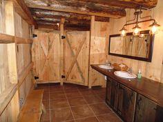 Interior of The Grand Barn bathroom Wedding Bathroom, Barn Bathroom, The Barn Restaurant, Game Room Basement, Public Bathrooms, Island Design, Rustic Barn, Bars For Home, Campsite