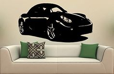 Wall Mural Vinyl Sticker Car Porsche Cayman S 1484 ** See this great product. (Note:Amazon affiliate link)