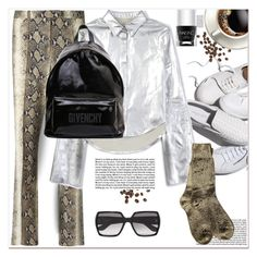 """White Sneakers"" by dragananovcic ❤ liked on Polyvore featuring John Galliano, House of Holland, PBteen, Nails Inc., Yves Saint Laurent, Ann Demeulemeester and Givenchy"