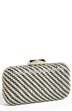 Sondra Roberts Woven Minaudiere available at #Nordstrom