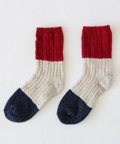カラーブロックミドルソックス(Socks)