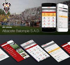 Official App Albacete Balompie S.A.D. Apps, Event Ticket, It Works, App, Nailed It, Appliques