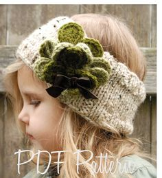 This is the cutest warmer for St. Patty's Day - the headband is knit, though. Gotta get practicing!