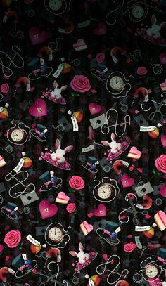 Black and pink Alice in wonderland