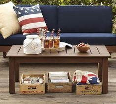 American flag accessories go great with the Chatham Coffee Table.