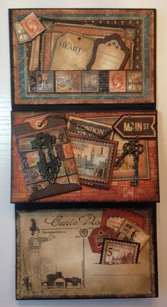 Hi everyone :-)  Had so fun making this 6x4 mini album booklets using the new masculine Cityscapes and Children's Hour collections from Gra...