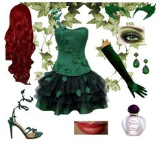 POISON IVY: Go out all with a fierce and vibrant makeup and red hair to amp up this villain costume. We rounded up the most popular Halloween costume ideas, according to Polyvore. See more fun DIY Halloween costumes ideas here!