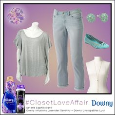 This Serene Sophisticate look was inspired by Downy Infusions Lavender Serenity and Downy Unstopables Lush. These soothing grey tones and comfy flats will make you feel like you're fresh from the spa! To shop this look, visit the LC Lauren Conrad collection available only at Kohl's. To register for the #ClosetLoveAffair sweepstakes visit https://downy.promo.eprize.com/pinterest/.
