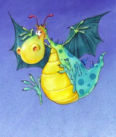 The fat-bellied dragon, by Francois Ruyer Cartoon Dragon, Cartoon Art, Fantasy Dragon, Dragon Art, Magical Creatures, Fantasy Creatures, Children's Book Illustration, Illustrations, Dragon Illustration