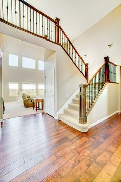 Hmm...I kinda like this open staircase design. Very much an open concept home.