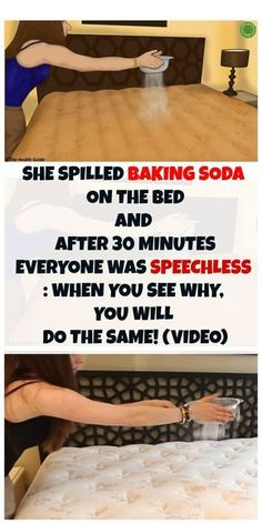 SHE SPILLED BAKING SODA ON THE BED AND AFTER 30 MINUTES EVERYONE WAS SPEECHLESS: WHEN YOU SEE WHY, YOU WILL DO THE SAME! (VIDEO)