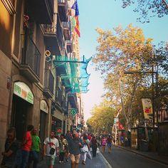 La Rambla, Barcelona, Spain, September 2014
