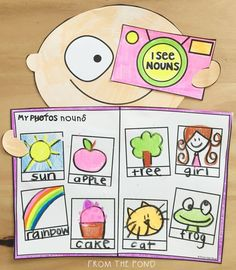 Noun Craftivity Nouns are people, places and objects you can take a photo of! Nouns Kindergarten, Kindergarten Art Activities, Preschool Phonics, Craft Activities, Toddler Activities, Nouns First Grade, Grade 1, Second Grade, First Grade Crafts