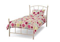 Encounter Bay Single Bed Just Kids Colour: White White Single Bed Frame, White Metal Bed, Bed Frames Uk, Toddler Bed Frame, High Sleeper Bed, Single Bunk Bed, Super King Size Bed, Lit Simple, Childrens Beds