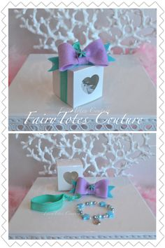 Mermaid Party Favor - Mermaid Bracelet & Hair Bow Gift Set - Fish Extender Gift - Found at FairyTotes Couture on Etsy💖 Little Mermaid Tutu, Little Mermaid Birthday, Little Mermaid Parties, Felt Hair Bows, Mermaid Party Favors, Princess Gifts, Elastic Hair Ties, Party Ideas, Fish