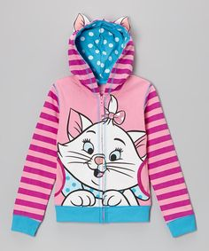 Light Pink Aristocat Marie Zip-Up Hoodie - Girls #zulily #zulilyfinds