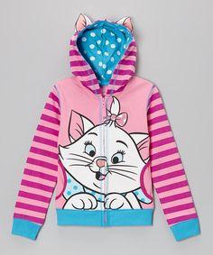 Light Pink Aristocat Marie Zip-Up Hoodie - Girls #zulily #zulilyfinds