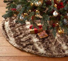 7ac7ffde0c6 Caramel Ombre Faux Fur Tree Skirt Faux Fur Tree Skirt, Caramel Ombre, Tree  Skirts